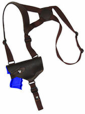 NEW Barsony Horizontal Brown Leather Shoulder Holster Taurus Compact 9mm 40 45