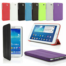"""SMART TEXTURED LEATHER CASE COVER FOR SAMSUNG GALAXY TAB 3 7"""" P3200 P3210 7 inch"""