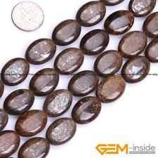 """Natural Stone Bronzite Gemstone Oval Beads For Jewelry Making 15"""" 10mm 12mm 14mm"""