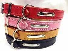 Old School Real Leather  Dog Collars Hand Made In England Stitched All Collars