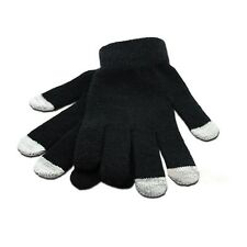 Unisex Womens Mens iPhone iPad Smart Touch Screen Winter Magic Gloves Black