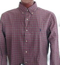 NWT Ralph Lauren Button Down Dress Shirt Pale Burgundy Size M and XL