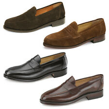 Classic Samuel Windsor Mens Handmade Leather / Suede Loafers Formal Casual Shoes