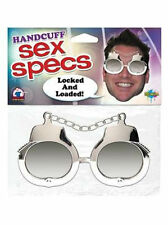 handcuff shades, sex specs, gag gift party, make'em laugh