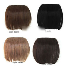 Cheap! Full Bangs Hair Pieces Clip in on Extensions Brazilian Remy Bang JC US