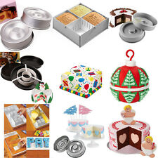 CAKE DECORATING TIN SET NUMBER LETTER ROUND MOULD TASTY-FILL PAN BIRTHDAY CAKE