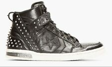 CONVERSE x JOHN VARVATOS BLACK STUDDED LEATHER WEAPON HI-TOP 139716C *Brand New*