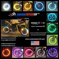 High Intensity REFLECTIVE Rim Wheel Tapes Decals Motorcycles Bicycles Cars Bikes