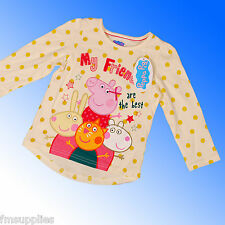 Peppa Pig Girls Top Age 2 3 4 5 6 Years 1st Class Fast Despatch