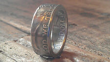 Coin Rings made from Silver Franklin Half dollars size 8-14 and half sizes