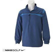NEW Mens Nike Golf Stretch WINDPROOF 1/2 Zip Pullover Jacket Breathable Blue $65