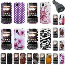 12x Choice Pattern Phone Protector Case For Motorola XPRT MB612 +Car Charger
