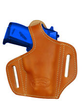 NEW Barsony Tan Leather Pancake Gun Holster Kel-Tec, Ruger Mini-Pocket 22 25 380