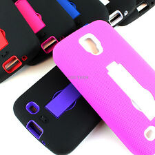 For Samsung Galaxy S4 Active I537 Rugged Impact Hybrid Hard Case Cover Kickstand