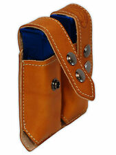 NEW Barsony Tan Leather Dbl Mag Pouch for Browning Colt Mini/Pocket 22 25 380