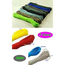 Nylon Desert Parachute Cord Outdoor Survival Paracord 550 7 Core Strand 100FT