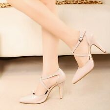 Women's Sexy Korean Office Lady Pointed Toe Ankle Strap High Heels Party Shoes
