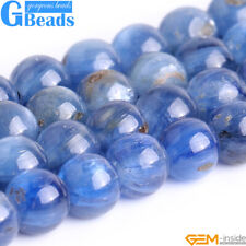 "Natural Gemstone Kyanite Round Beads For Jewelry Making Free Shipping 15""4mm 6mm"