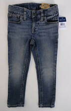 NEW nwt Girls RALPH LAUREN Bowery Faded Wash Adj Waist Skinny Jeans 2T, 3T or 4T