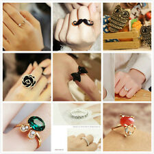 NEW Fashion Europe Style Crystal Cute Ring Can Adjustable Valentine's Day Gift