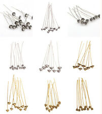 Quality 20pcs Antique Silver Golden Tone Long Head Pins Finding