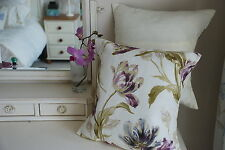TWO LAURA ASHLEY HANDMADE CUSHION COVERS IN GOSFORD PLUM