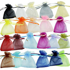 "12/25/50/100 pcs New Organza Jewelry Wedding Gift Pouch Bags 7x9cm 2.7*3.5"" Q"