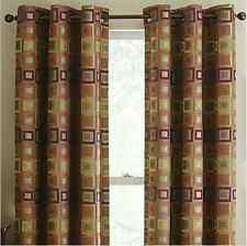 """Studio™ Standard Squares Grommet-Top Curtain Panel In 63"""" in. Length Only"""