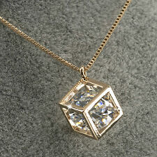 18k gold gf genuine SWAROVSKI crystal pendant necklace elegant Sydney stock