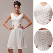 A Line 2014 New Homecoming Dress Ivory Short Cocktail Party Prom Stock Size 2-16