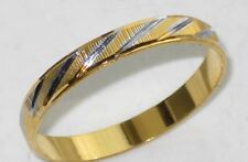 MENS OR WOMENS 2TONE 18KT GOLD PLATED WEDDING RING WEDDING BAND 3MM YGB65