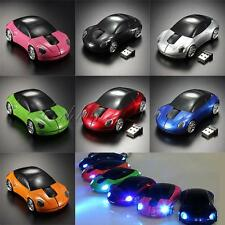 1600DPI 3D Car Shape 2.4G Wireless Optical Mouse Mice+USB Receiver Fr Laptop PC