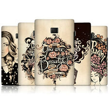 HEAD CASE INTROSPECTION PROTECTIVE HARD BACK CASE COVER FOR LG OPTIMUS L3 E400
