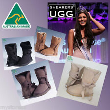 NEW HAND-MADE Australia SHEARERS UGG Wick Wrap Premium Sheepskin Fashion Boots