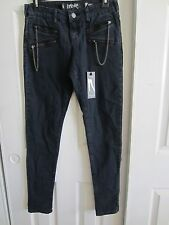 LIP SERVICE BLUE SKULL ZIP JETT FIT SKINNY JEANS DIFFERENT SIZES TO CHOOSE FROM
