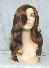 Long Layered Loose Waves Brown,Auburn,Blonde Full Synthetic Wig Wigs - #042