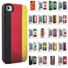 Genuine Branded Fashion Case Hard Back Cover Skin Pouch Flip For iPhone 4 4S