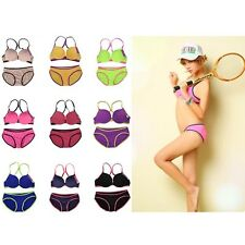 New Bra and Panty Womens Sexy Cute Underwear push up Bra Set Solid