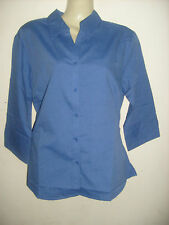 Ladies BLUE Office/casual/work shirt/blouse  3/4 sleeve, Size 12 or Size 14, NEW
