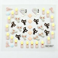 Halloween 3D DIY Nail Art Decal Accessory Stickers Manicure Decorations