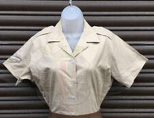 NEW BRITISH ARMY SURPLUS ARMY FAWN SHORT SLEEVE BLOUSE-FANCY DRESS/PARADE/SHIRT