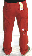 Levis Pants New $64 Mens Brick Red Cargo Relaxed Fit Choose Size