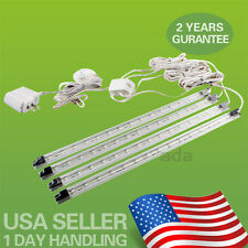 4PCs Kitchen Under Cabinet Counter LED Light Bar Kit Warm White Energy Saving