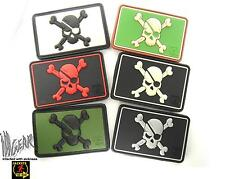 JTG Pirate Skull Flag PVC velcro patch Cross Bones Jack ill Gear