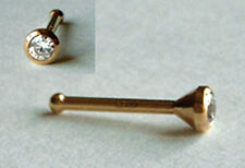 750 ECHT GOLD *** Zirkonia Nasenpiercing Piercing Nasenstecker Ø  2,0-2,5-3,0 mm