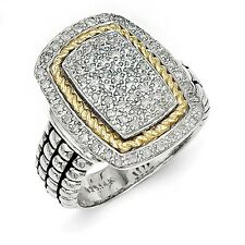 Sterling Silver w/14k Yellow Gold 1/4ct. Diamond Ring