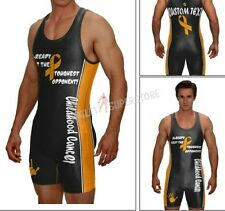 Childhood cancer singlet, I already beat my toughest opponent, with custom text
