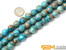 """Blue Crazy Lace Agate Gemstone Round Beads For Jewelry Making Strand 15"""" Yao-Bye"""