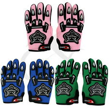 COOL YOUTH/KIDS ATV MOTOCROSS MOTORCYCLE OFF-ROAD MX DIRT BIKE GLOVES PINK BLUE
