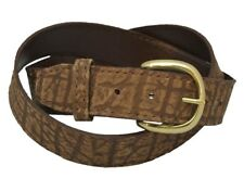"Genuine CAPE BUFFALO HIDE LEATHER BELT 1 1/4"" OR 1 1/2"" width avail. NEW  BROWN"